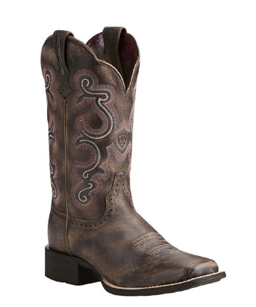 ARIAT WOMEN'S QUICKDRAW TACK ROOM CHOCOLATE BOOTS - STYLE #10021616