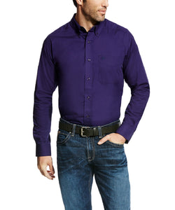 Ariat Men's Long Sleeve Solid Button Down Shirt- Style #10022447