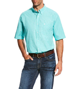 ARIAT MEN'S SHORT SLEEVE PRO SERIES MANNY BUTTON DOWN SHIRT - STYLE #10022767