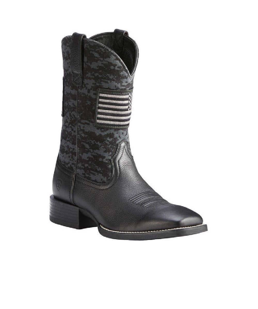 Ariat Men's Patriot Black Deertan Digital Camo Boot- Style #10023361