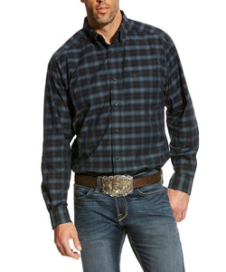 ARIAT MEN'S CALDERAS BLACK PLAID BUTTON DOWN SHIRT- STYLE #10024174