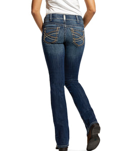 Ariat Women's R.E.A.L. Mid Rise Stretch Entwined Festival Boot Cut Jean- Style #10025286