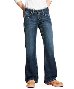 ARIAT GIRLS' REAL ENTWINED BOOT CUT JEAN- STYLE #10025984-DRESDEN