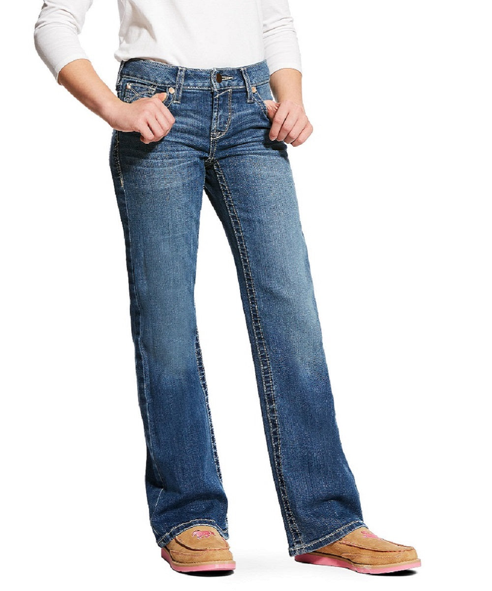 Ariat Girls' Whipstitch Boot Cut Jean- Style #10025985