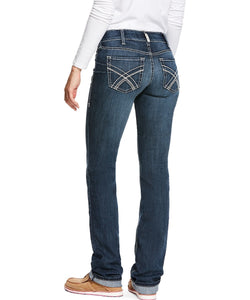 Ariat Women's R.E.A.L. Low Rise Stretch Kylie Stackable Straight Leg Jean- Style #10027720