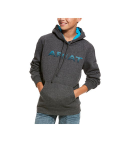 Ariat Boys' Charcoal Graphic Hoodie- Style #10027950