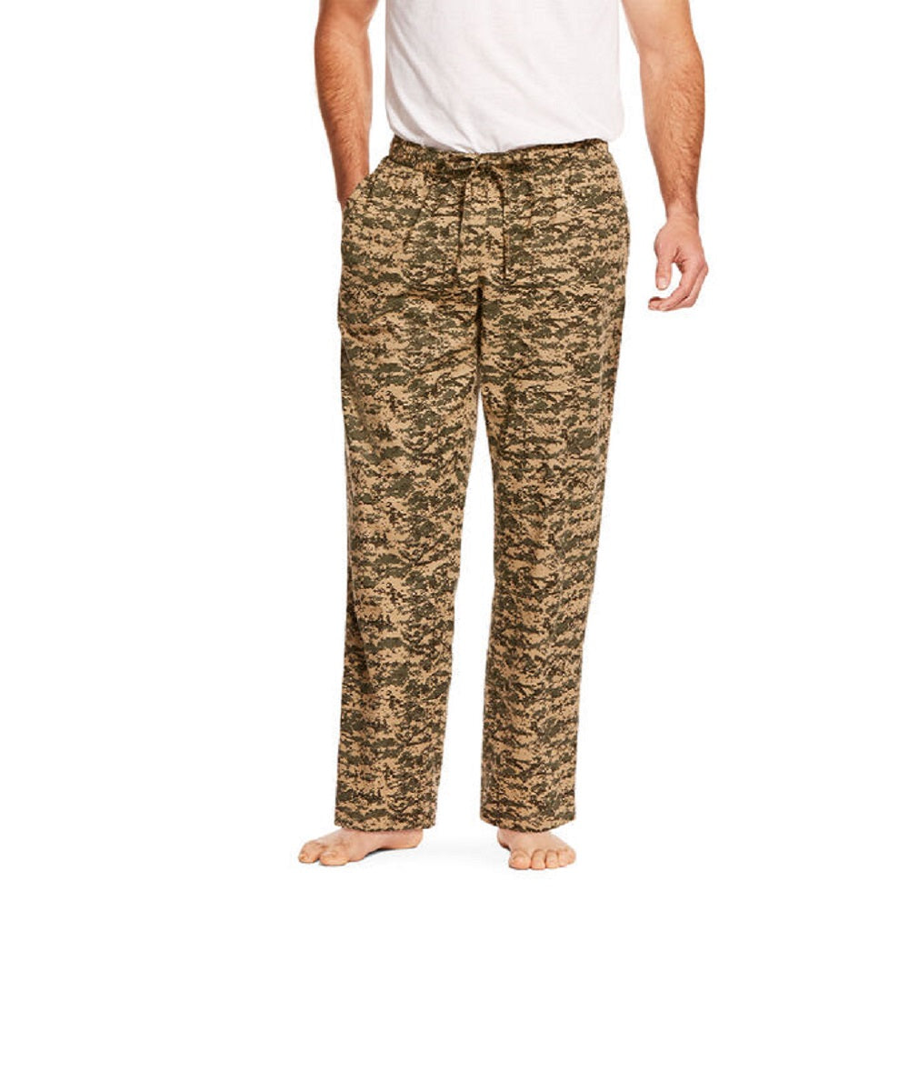 Ariat Men's Green Digital Camo Flannel Pajama Pant- Style #10028004