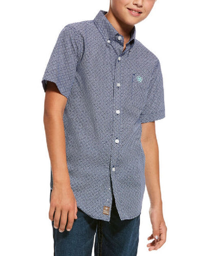Ariat Boys' Reeves Classic Fit Button Down Shirt- Style #10028153