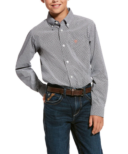 Ariat Boys' Urway Stretch Classic Fit Button Down Shirt- Style #10028159