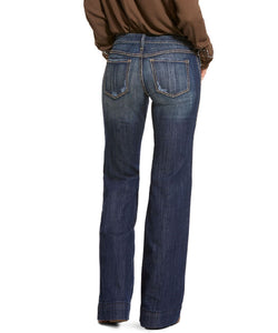 Ariat Women's Trouser Mid Rise Stretch Lucy Wide Leg Jean- Style #10028925