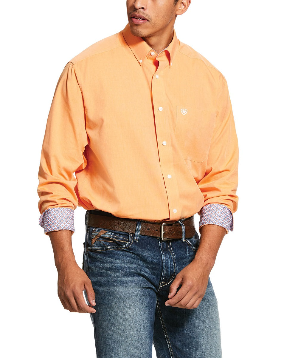 Ariat Men's Wrinkle Free Solid Oxford Classic Fit Button Down Shirt- Style #10030781