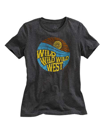Tin Haul Women's Wild Wild West Tee- Style #10-039-0501-0912