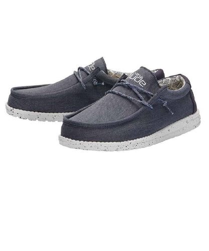 Hey Dude Men's Wally Blue Mirage Chambray Shoe- Style #110062126