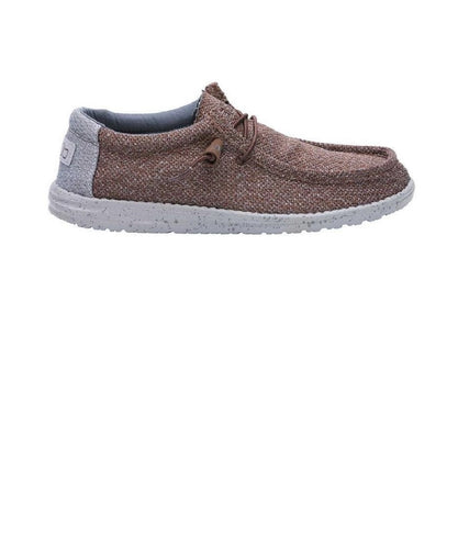 Hey Dude Men's Wally Sox Classic Brown Grey Shoe- Style #110351522