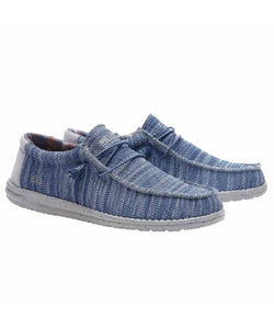 Hey Dude Men's Wally Sox Funk Steel Blue Grey Shoe- Style #110352631