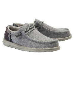 Hey Dude Men's Gray And Camo Wally Wool Shoe- Style #111417025