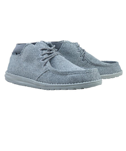 Hey Dude Men's Gray Wayne Casual Shoe- Style #112143000