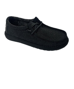 Hey Dude Youth Black Wally Shoe- Style #130134900