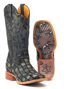 ROPER MEN'S TIN HAUL KICK @$$ PATCHWORK  BOOT- STYLE #14-020-0007-0304