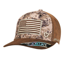 M&F WESTERN MEN'S ARIAT DIGITAL CAMO  BALL CAP- STYLE #15094156