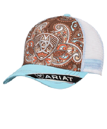 M&F WESTERN WOMEN'S ARIAT PAISLEY BALL CAP- STYLE #1543827