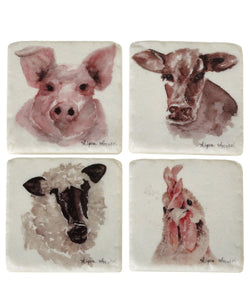 MIDWEST-CBK FARM ANIMAL COASTERS- STYLE #158206