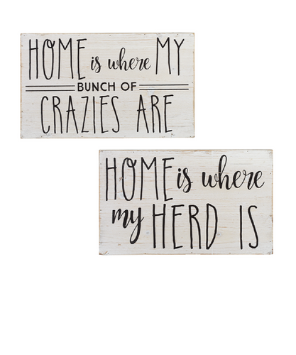 Ganz 'Home Is Where' Wall Signs- Style #163261