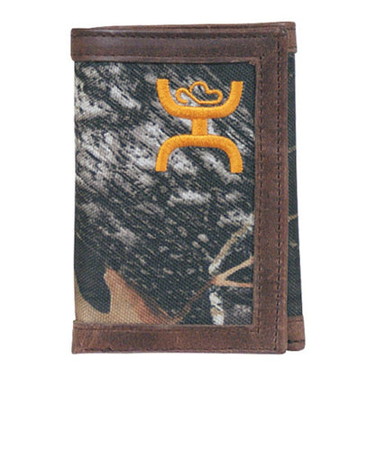 TRENDITIONS MEN'S HOOEY SIGNATURE CAMO TRIFOLD WALLET- STYLE #1642322W1-BROWN