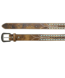TRENDITIONS MEN'S HOOEY CHESTNUT BELT- STYLE #1665BE3