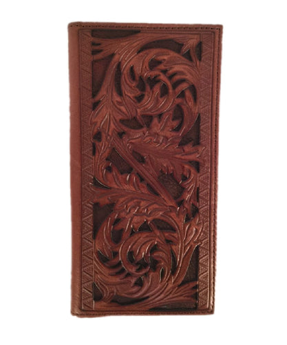 TRENDITIONS MEN'S HOOEY SIGNATURE RODEO TOOLED WALLET - STYLE #1779161W9