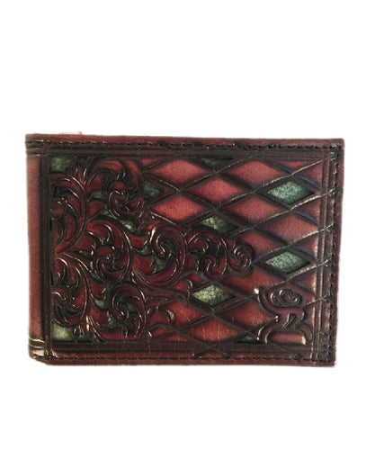 TRENDITIONS MEN'S HOOEY ROUGHY SIGNATURE BIFOLD TOOLED WALLET - STYLE #1781161W6GR