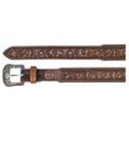 Trenditions Men's Hooey Floral Tooled Cutout Belt- Style #1787BE4