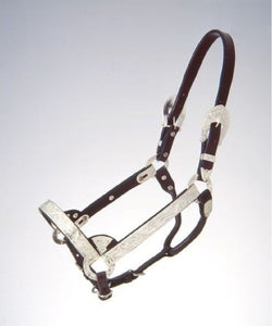 Royal King Yearling Silver Show Halter- Style #18-821