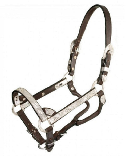 ROYAL KING SILVER SHOW PONY HALTER - STYLE #18-827