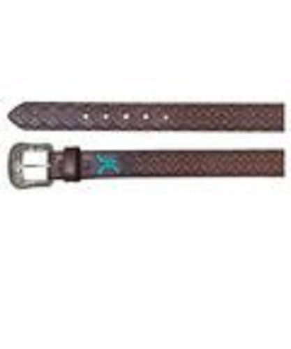 Trenditions Men's Hooey Roughy Aztec Chocolate Belt- Style #1873BE3-CHOCOLATE