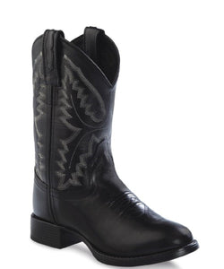 Old West Children's Ultra Flex Black Leather Boot- Style#1910