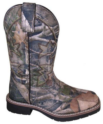 Smoky Mountain Children's Square Toe Wilderness Camo Boot- Style #2075C