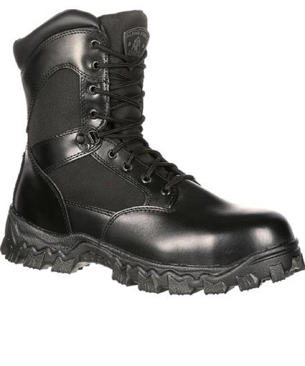 Rocky Men's Alpha Force Waterproof Zipper Duty Boots- Style #2173