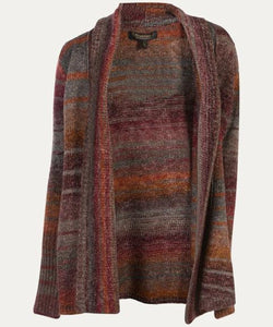 NOBLE OUTFITTERS WOMEN'S DENVER CARDIGAN- STYLE #27010-411-BRICK RED