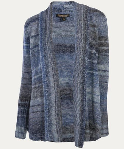NOBLE OUTFITTERS WOMEN'S DENVER CARDIGAN-STYLE #27010-742-CORNFLOWER
