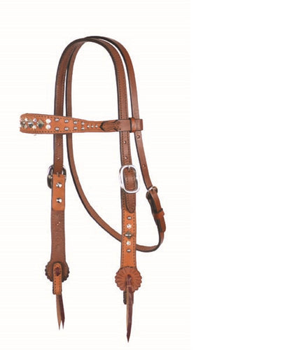 Alamo Saddlery Old Timer Contoured Headstall- Style #2800-ROT