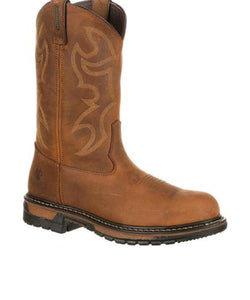 Rocky Men's Original Ride Branson Steel Toe Waterproof Western Boots- Style #2809