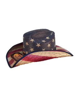 Bullhide Hats Star Spangled Flag Straw Hat- Style #2928