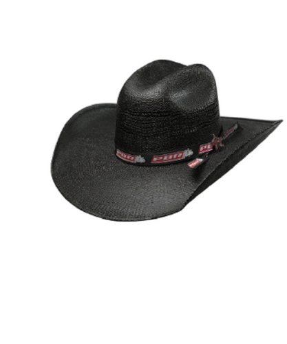 Bullhide Hats No Pressure 25X Straw Hat- Style #2991-BLACK