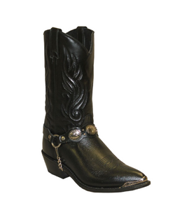 Sage Men's Black Concho Boot- Style #3033