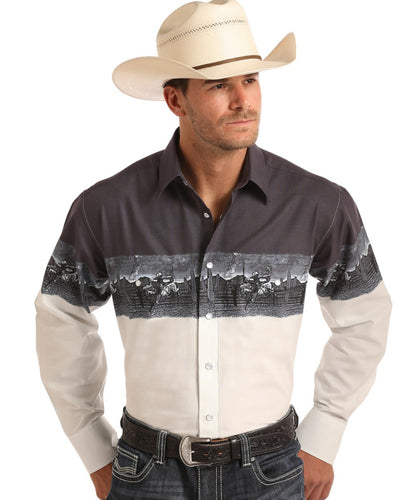 PANHANDLE MEN'S LONG SLEEVE SNAP SHIRT - STYLE #30S6547