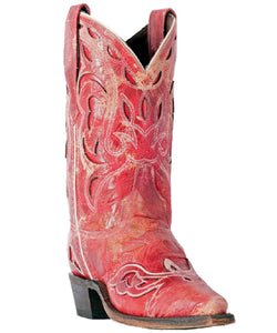 "LAREDO WOMEN'S RED SNIP TOE ""NO MORE DRAMA"" BOOTS - STYLE #3125"