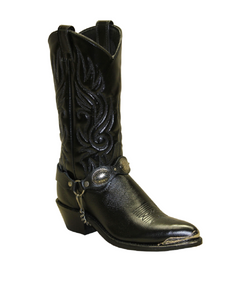 SAGE WOMEN'S BLACK DRESS WESTERN BOOT- STYLE #3585