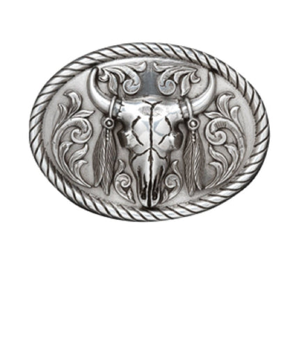M&F WESTERN MEN'S OVAL SKULL BUCKLE- STYLE #37030