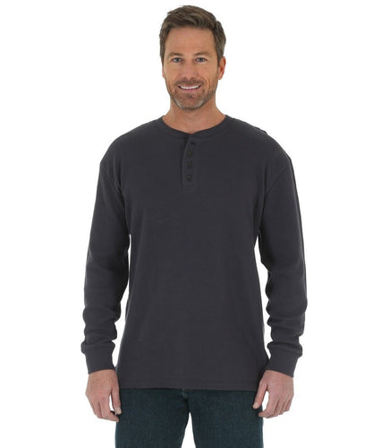 WRANGLER MEN'S RIGGS WORKWEAR THERMAL HENLEY- STYLE #3W756NV